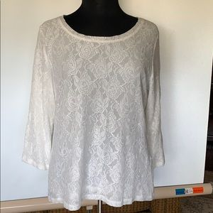 Liz Claiborne New York Long Sleeve White Blouse